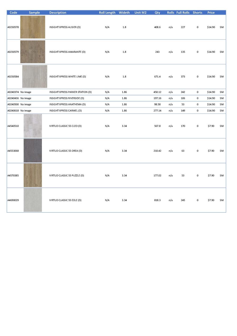 Q3 Price List Page 2